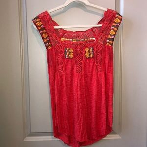 Free People boho top. Great condition